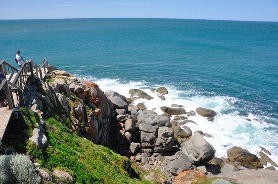 Victor Harbor, Australia: View from boardwalk above Granite Island