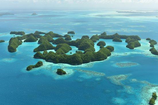 Koror Island, Palau: Beautiful 70 Islands, Taken from Smile Air Aerial Tour