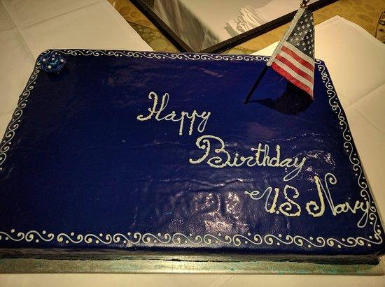Surprising Ambassador Cake For Navy Birthday Celebration Picture Of Pb Funny Birthday Cards Online Fluifree Goldxyz