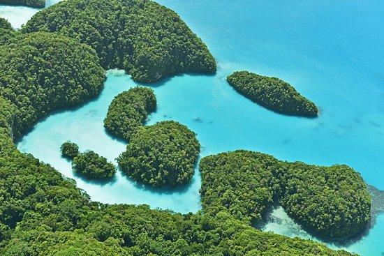 Koror Island, Palau: Palau's Milky Way, taken from Smile Air Aerial Tour