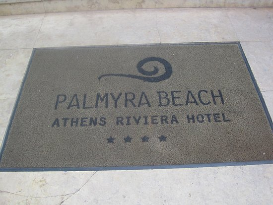 Palmyra Beach Hotel: Welcome mat at entrance