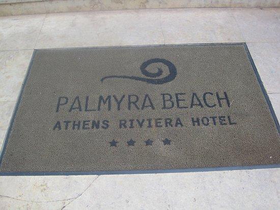 Glyfada, Grécia: Welcome mat at entrance