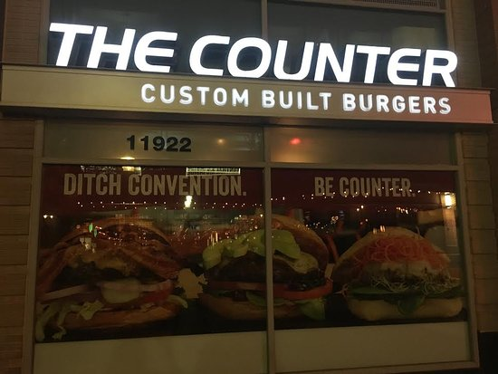 The Counter in Reston is a great place to enjoy a custom-made burger.