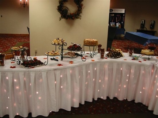 This is a dessert buffet set up for our Mother\'s Day Brunch ...
