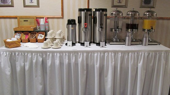 Columbiana, OH: The drink station is set up for a business meeting.