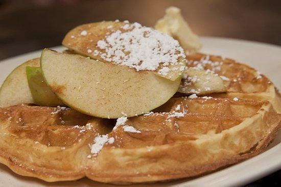 Upton, MA: Apple waffles