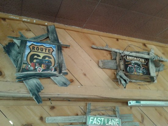 Pecos, TX: Wall decor at Pody's BBQ