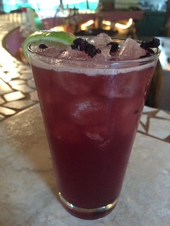 Playa Potrero, Costa Rica: Blueberry Lemonade: A delicious sweet, tart cocktail with a spin