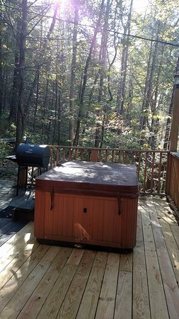 The Wright Cabins: Hot tub