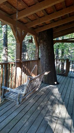 The Wright Cabins: Porch swing