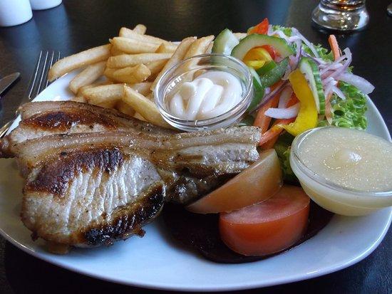 Geraldine, Yeni Zelanda: Pork chops