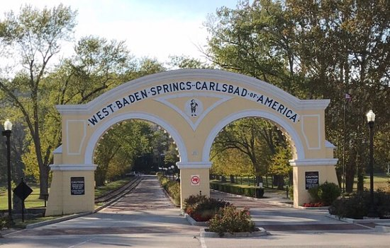 West Baden Springs, IN: Entrance from Main Street