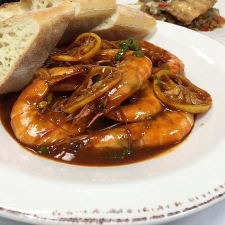 Greenville, Carolina del Norte: New Orleans style bbq shrimp!