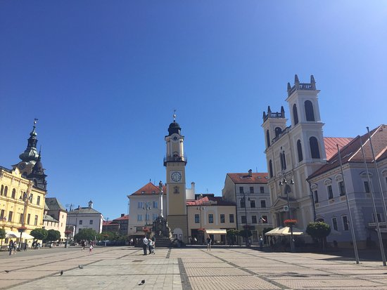 Clock tower Banska Bystrica town square