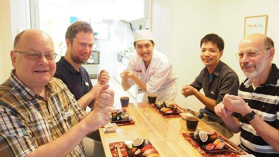 Adachi, Japan: Making sushi at Tokyo Sushi-making Tour