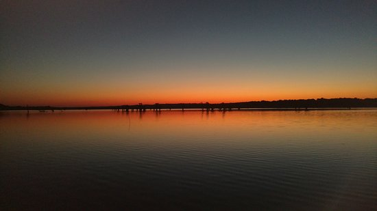 Tiptonville, TN: Sunrise over Reelfoot Lake from Blue Basin Cove Lodge