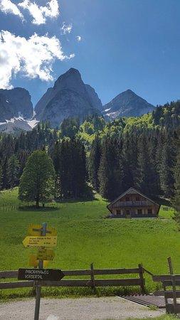 Gosau, Østrig: Gemütliche Alpenhütte im mitten der Berglandschaft