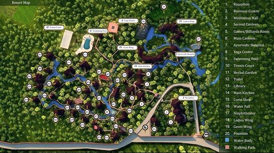 Resort Map - Picture of Kairali - The Ayurvedic Healing ...