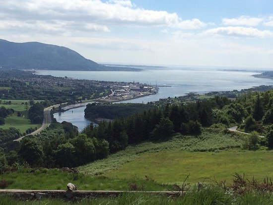 Newry, UK: View of Carlingford Lough and Mourne Mountains from Flagstaff Viewpoint