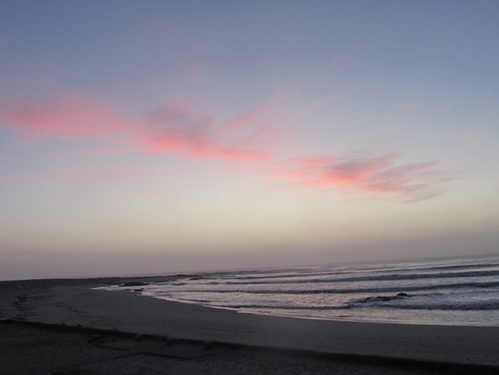 Skeleton Coast Park, Namibia: Sunset view from the room's balcony