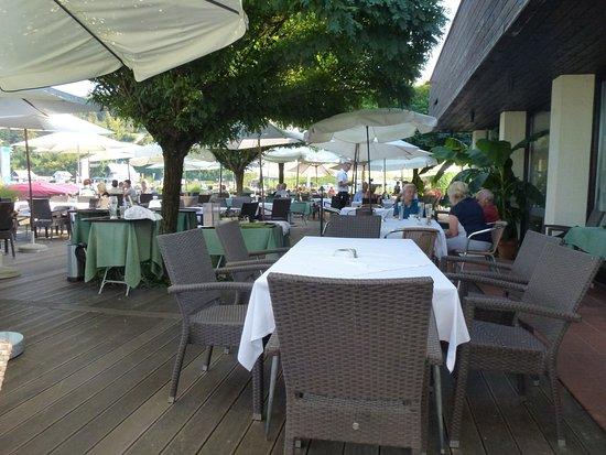 Reifnitz, Austria: The outdoor seating area