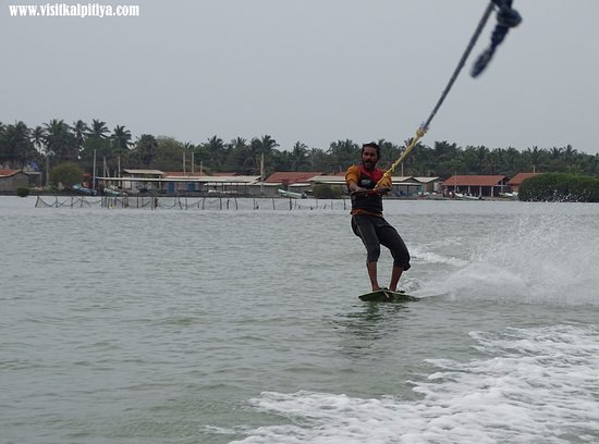 Wake boarding at Kalpitiya lagoon