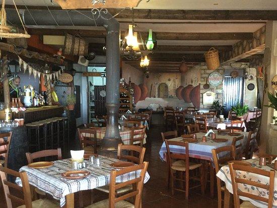 The Village Restaurant : Inside the taverna