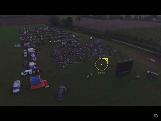 Overview of Herefords Open Air Cinema