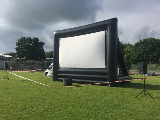 Hereford, UK: Open Air Cinema Screen