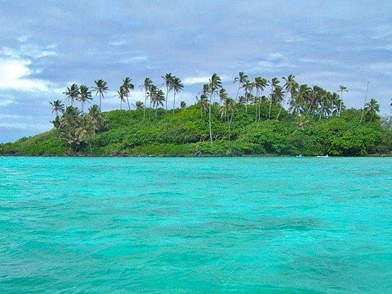Muri, Islas Cook: ... auf der Fahrt zum Riff...