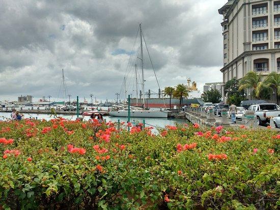 Le Caudan Waterfront: View of harbour