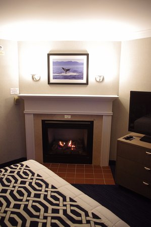 Hull, MA: Gas Fireplace puts out warmth