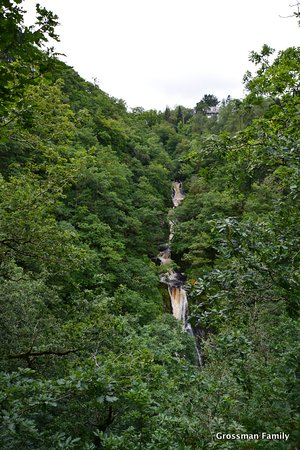 Devil's Bridge (Pontarfynach), UK: The waterfall, when it first appears