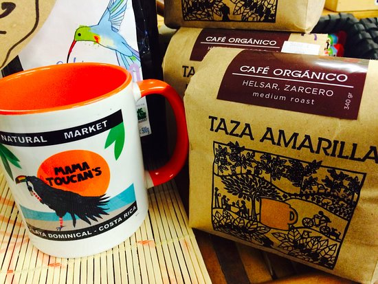 Dominical, Costa Rica: Incredible coffee and a souvenir mug ta boot!