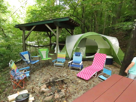 Moonshine Creek Campground: Our campsite
