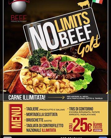 Fiano Romano, Italia: NO LIMITS BEEF GOLD