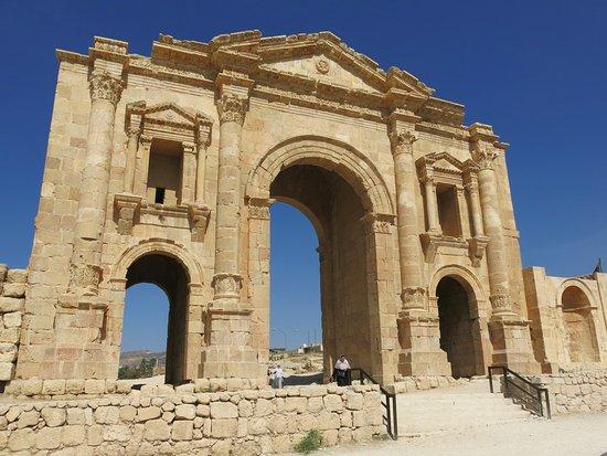 Jerash, Jordan: De toegangspoort