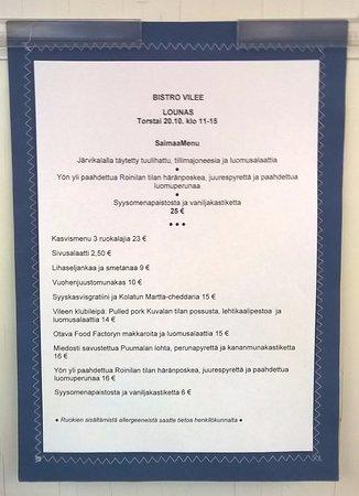 Mikkeli, Finlandia: Bistro Vilee