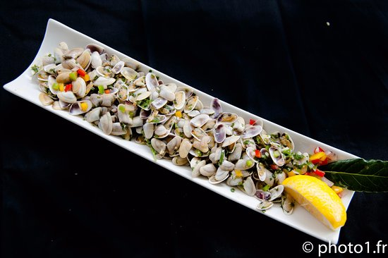 Restaurant Brasserie Les Vagues : les tellines  à l'ail