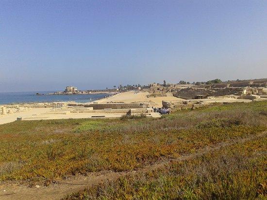 Caesarea, Israel: vista de las ruinas