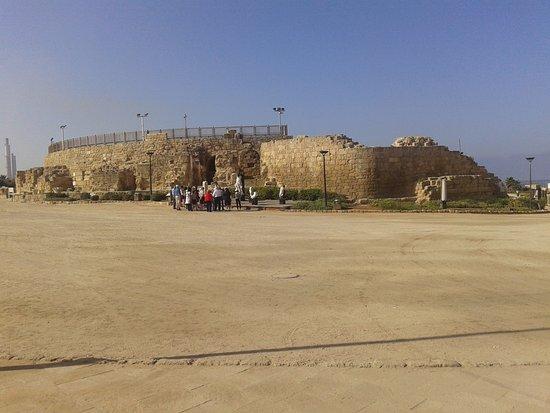 Caesarea, Israel: entrada