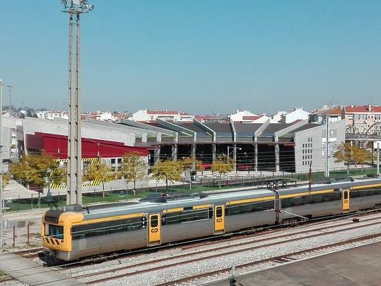 Entroncamento, Portugal: Vista panorâmica do Museu Nacional Ferroviário.