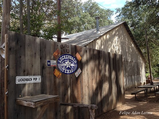 Side yard area to left of the post office at Luckenbach Texas, population 3 (smiles).