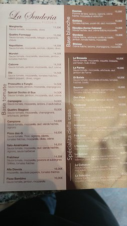 Marnes-la-Coquette, France: menu à emporter