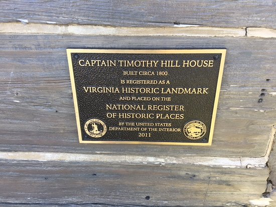 Captain Timothy Hill House: Landmark sign