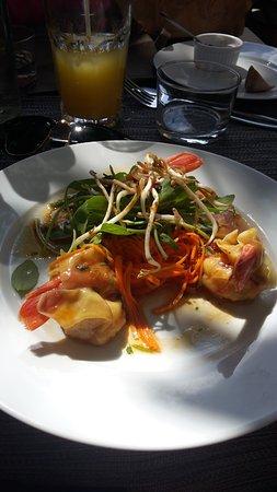 Cogolin, France: L'entrée, un vrai régal, frais et avec beaucoup de goût !