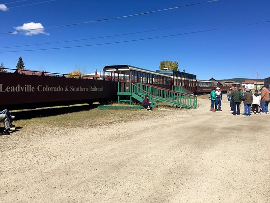 Leadville, CO: Train at the depot