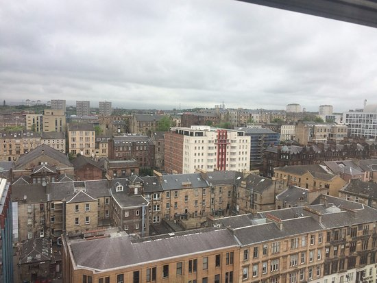 Premier Inn Glasgow City Centre (Charing Cross) Hotel: view from the top floor