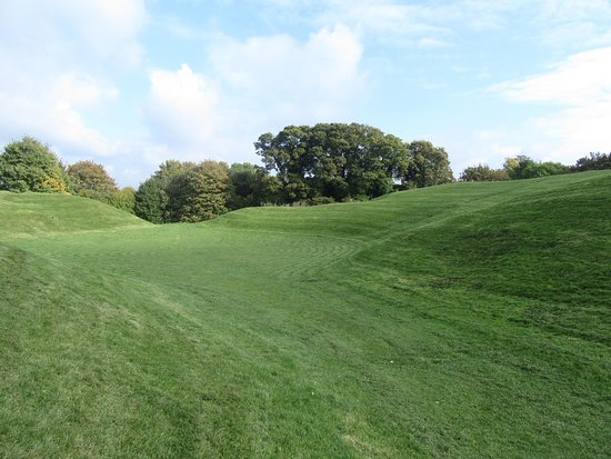 Cirencester Amphitheatre: View from the entrance