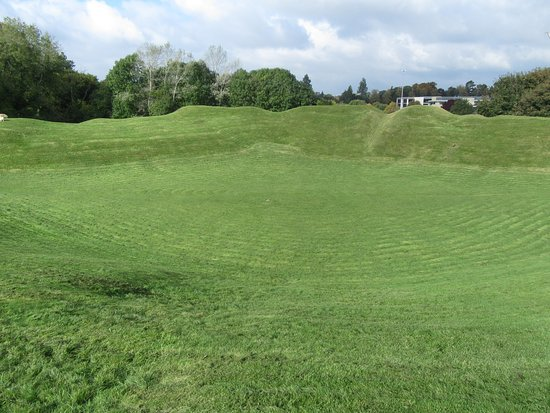 Cirencester Amphitheatre: View from the stands